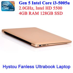 Mini Laptop for Intel Core I3 5005u (golden and fanless) pictures & photos