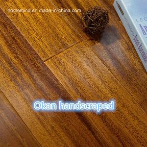 Hard Wood Flooring Okan /Iroko Handscraped Wood Flooring pictures & photos