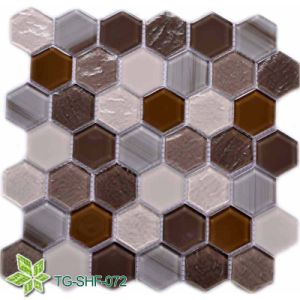 Glass Mosaic Tile with Resin (TG-SHF-072) pictures & photos