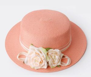 Flat Top Floral Straw Hat pictures & photos