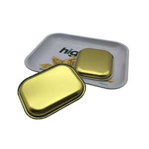 Tin Tray Big Size Hot Sale Rectangle Shape Custom Printing Rolling Smoke pictures & photos