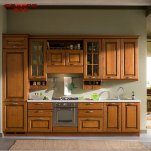 Holistic Kitchen Furniture Design Solid Teak Wood Kitchen Cabinet (GSP5-048) pictures & photos