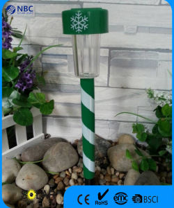 Christmas Theme Solar Stake with White Snow Design pictures & photos