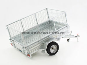 Fully Hot DIP Galvanized 6X4 7X4 7X5 and 8X5 Box Trailer with Cage pictures & photos