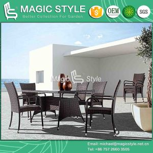 Hot Sale Wicker Dining Chair Rattan Dining Table Modern Dining Set Outdoor Furniture Patio Dining Set Garden Wicker Chair pictures & photos