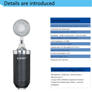 Small Bottles Capacitor Microphone Computer Network K Song pictures & photos