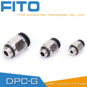 Pneumatic Brass Fittings with BSPP, BSPT, NPT Thread (PC12-03) pictures & photos