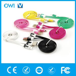 USB Colorful Charger&Transfer Data Flat USB Cable pictures & photos
