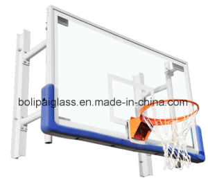 Blue Padding Toughened Glass Backboard Wall Mounted Basketball System pictures & photos