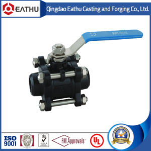 3PC NPT Threaded Stainless Steel Ball Valve pictures & photos