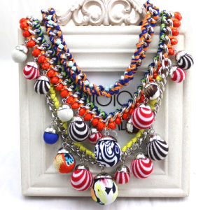 Fashion Colorful Braided Pendant Choker Necklace Jewelry pictures & photos