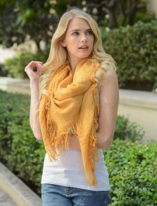 Plain Color Soft Spring Autumn Fringed Women Scarf Shawl Wrap Wholesale
