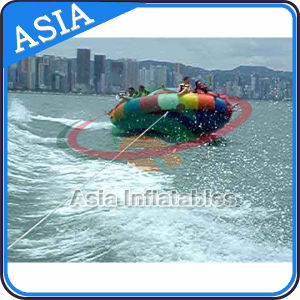 Durable 0.9mm PVC Tarpaulin Inflatable UFO, Inflatables Saturn with Handles Rockers, Inflatable Disco Boat Water Toy pictures & photos