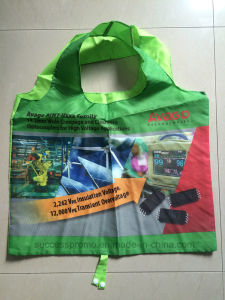 Custom Polyester Foldable Shopping Bag with Full Color Printing pictures & photos