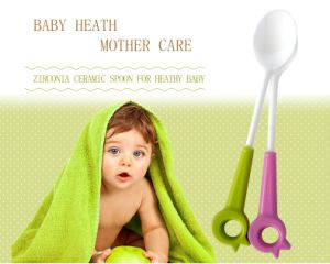 Baby Products Zirconium Oxide Ceramic Baby/Toddle Feeding Spoon for Tableware pictures & photos