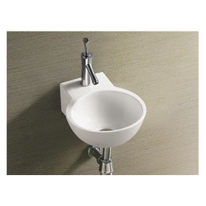 Made in China Ceramic Bathroom Basin Wall Hung pictures & photos