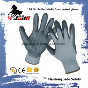 15g Nitrile DOT with Nitrile Foam Coated Work Glove pictures & photos