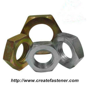 DIN439 -2-1987 Carbon steel Chamfer Hex Jam Nuts pictures & photos