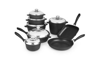 Nonstick Casting Aluminum Pots and Pans Cookware Set