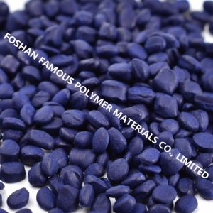 PP ABS Plastic Blue Color Masterbatch for Straw Strip Making pictures & photos