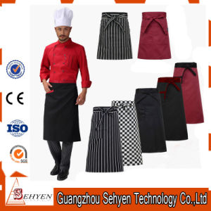 Printed Black Cotton Bar Waist Apron with Custom Logo pictures & photos