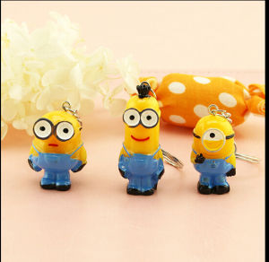 High Quality Cartoon Style Customized Resin Key Chain pictures & photos