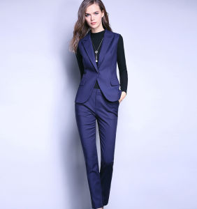 Good Quality Office Lady Business Sleeveless Suit pictures & photos