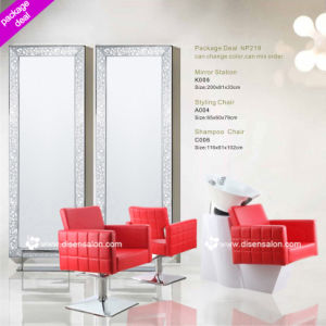 Styling Chair, Shampoo Chair, Washing Unit, Salon Chair, Barber Chair, Mirror Station, Hairdressing Chair (Package Deal NP219)