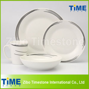 Fine Black Line Decal Dinner Set pictures & photos