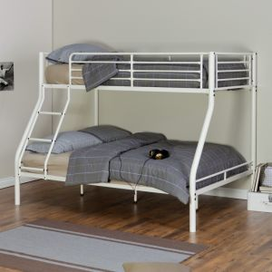 Twin Over Full Metal Bunk Bed in White Finish pictures & photos