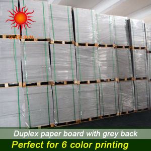 Mixed Pulp Duplex Paper with Grey Back for Printing pictures & photos