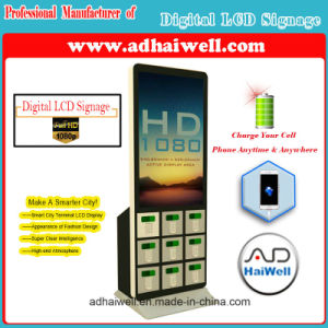 "42"" LCD Screen Mobile Phone Charging Station with Digital Signage Windows 10 Player pictures & photos"