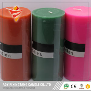 Different Size White Unscent Pillar Candle Factory pictures & photos