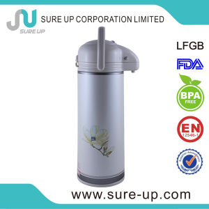 New Design with Cup Glass Inner Vacuum Flask Coffee Tea Jug (JGHQ) pictures & photos