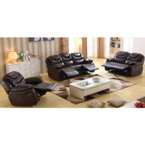 Manual Recliner Leahter Sofa and Chair 6049# pictures & photos