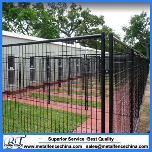 China Black Welded Wire Dog Kennel Panel Gates Dog Boarding Suites ...