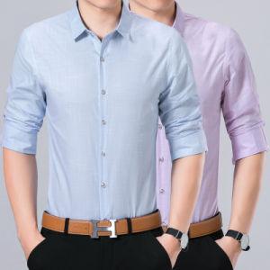 Fashion Cotton Button Down Plain Men Shirt pictures & photos