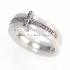 Ceramic Jewelry 925 Sterling Silver Fashion Ring, Setting Cubic Zirconia pictures & photos