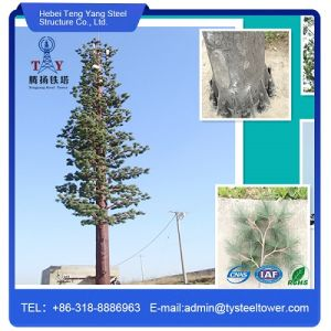 Hot Galvanized Artifical Pine Tree Tower for Communication pictures & photos