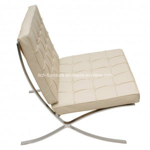 Modern Italian Leather Hotel Barcelona Lounge Chair pictures & photos