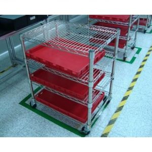NSF 4 Tiers Heavy Duty Adjustable Factory Storage Chrome Steel Shelf Rack pictures & photos