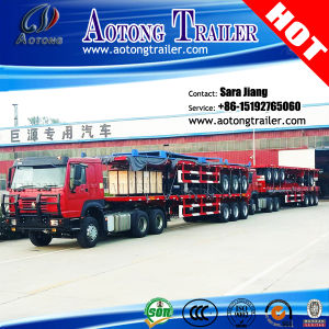 Hot Sale 3 Axle 40ft Flatbed Semi Trailer for Container pictures & photos