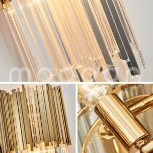 Modern Simple Golden Stainless Steel Crystal Wall Lamp for Living Room pictures & photos