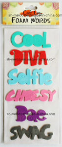 Multicolor Foam Words Stickers for Scrapbooking / Handmade Crafts pictures & photos