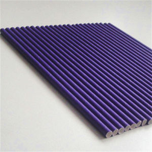 Solid Purple Paper Drinking Straw pictures & photos