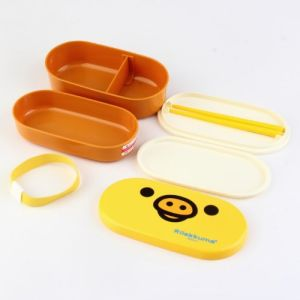 Cartoon High Heat Resistance 2 Layers Chopsticks BPA Free Plastic Container Plastic Bento Lunch Box pictures & photos