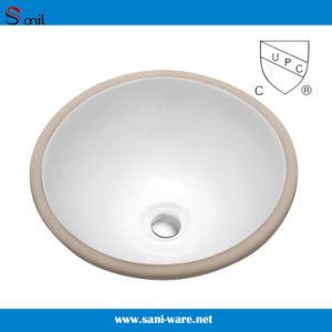 Bathroom Undermounted Porcelain Sink with Cupc Certification (SN036) pictures & photos