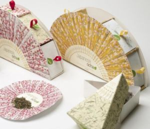 Fashion Fan-Shaped Tea Packaging Gift Box pictures & photos