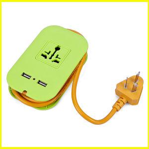Fashion Green Mini Multifunctional USB Outlet Socket