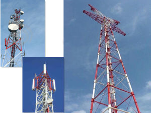 Self Supporting 3 Legged Steel Lattice Tower Design pictures & photos